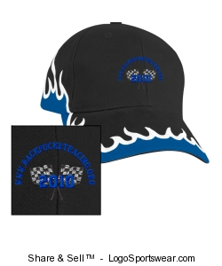 Adult Flame, Low Profile Racing Team Cap Design Zoom